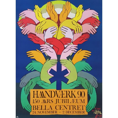 1990 Wiinblad Haandværk 90 in Bella Center - Original Vintage Poster