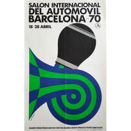 1970 International Motor Show Barcelona - Original Vintage Poster