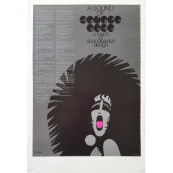 1969 A Sound of Groove Rosé - a touch of Scandinavian Design - Original Vintage Poster