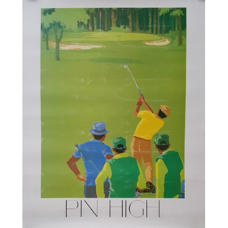 1984 Pin High Golf Poster - Original Vintage Poster