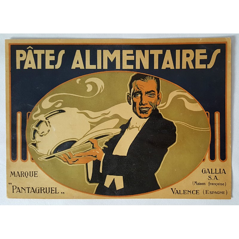 1920s French Pasta Food Advertisement - Pâtes Alimentaires ...