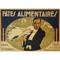 1920s French Pasta Food Advertisement - Pâtes Alimentaires - Original Vintage Poster