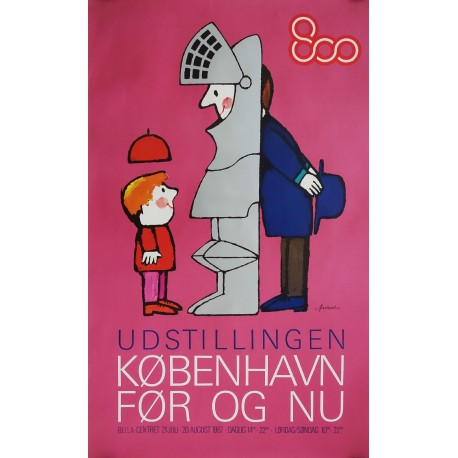 1967 Copenhagen 800 Years Exhibition - Original Vintage Poster