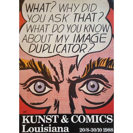 1988 Roy Lichtenstein Image Duplicator Louisiana Exhibition - Original Vintage Poster