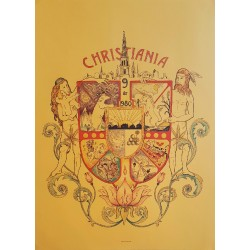 1980 Christiania Freetown Anniversary - Original Vintage Poster