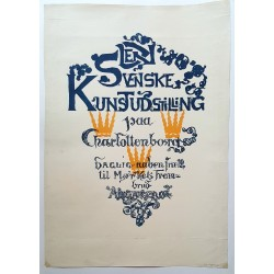1930s Danish-Swedish Art Exhibition Poster Charlottenborg - Original Vintage Poster