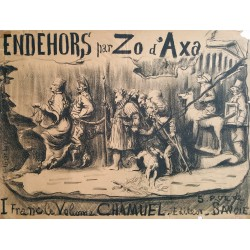 1890s French Anarchist Underground Newspaper Advertisement Endehors par Zo d'Axa - Original Vintage Poster