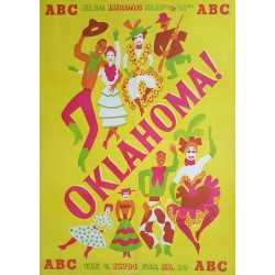 1960s Oklahoma! Danish Stage Poster - Original Vintage Poster