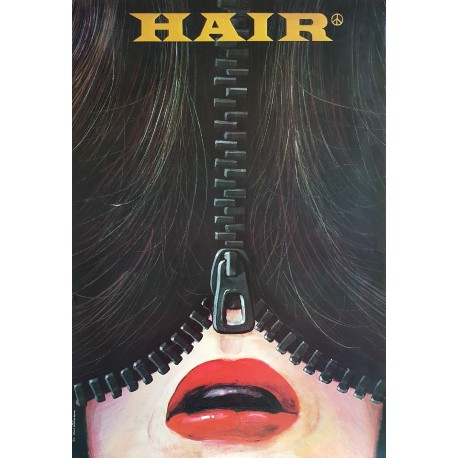 1985 Hair Musical - Original Vintage Poster