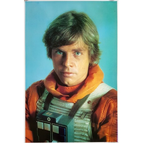 1980 Star Wars Luke Skywalker Fan Poster - Original Vintage Poster