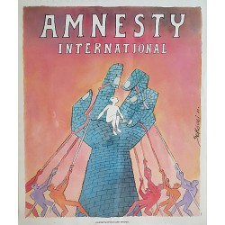 1989 Amnesty International Campaign Poster - Original Vintage Poster