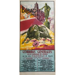1960 Bullfighting in Bilbao - Original Vintage Poster