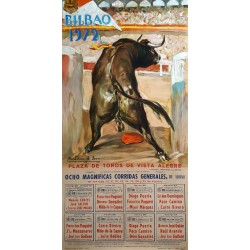 1972 Bullfighting Show in Bilbao Spain - Original Vintage Poster