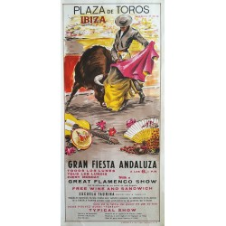 1969 Ibiza Flamenco Show & Bullfighting - Original Vintage Poster