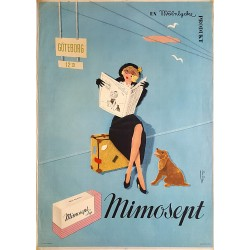 1950s Mimosept Lyx Commercial by Joan Jordan - Original Vintage Poster