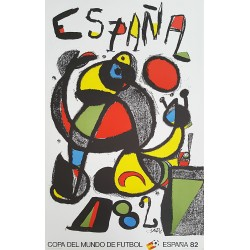 1982 World Cup Spain by Miro - Soccer/Football Championship - Original Vintage Poster