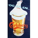 1958 Carlsberg Beer Polar Bear by Thorkil Møller - Original Vintage Poster
