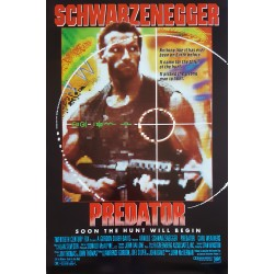 1987 Predator Movie Poster 1sh - Original Vintage Poster