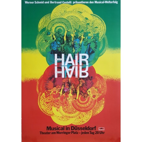 1973 Hair Musical Germany - Original Vintage Poster