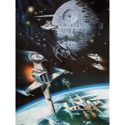 "1983 Return of the Jedi ""Offical Fan Club Poster"" - Original Vintage Poster"