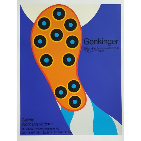 1970 Genkinger Football Exhibition Poster (boot) - Original Vintage Poster