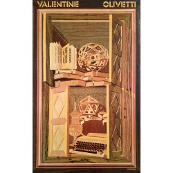 1969 Olivetti Advertisement by Milton Glaser - Original Vintage Poster