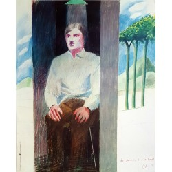 1977 David Hockney for Amnesty International - Original Vintage Poster