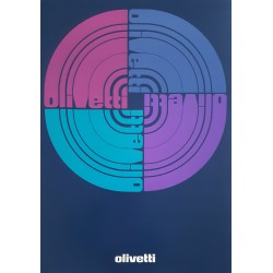 1974 Olivetti Typewriter Advertisement Logo - Original Vintage Poster
