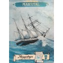 1975 Marsal Danish Travel Poster Marstal Ship - Original Vintage Poster