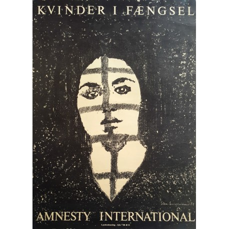 1984 Amnesty International Woman in Prison - Original Vintage Poster