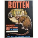 1940s Fight off the Rats! Fight Pest Campaign Poster - Original Vintage Poster