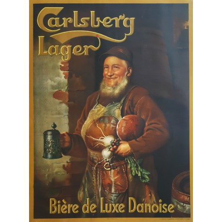 1940s Carlsberg Lager Brewer Advertisement - Original Vintage Poster