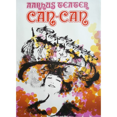 1975 Can-Can Musical by Aarhus Teater - Original Vintage Poster