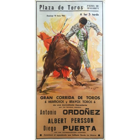 1962 Bullfighting in Palma de Mallorca - Original Vintage Poster