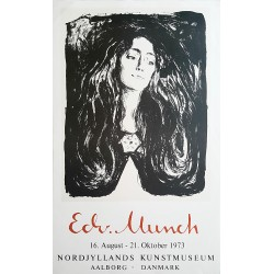 1973 Edvard Munch Madonna (Eva Mudocci The Brooch) Exhibition Poster - Original Vintage Poster