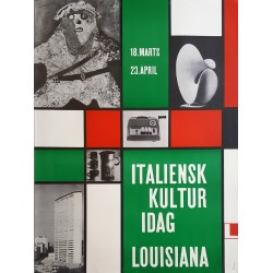1961 Italy Design and Art Exhibition Louisiana - Original Vintage Poster