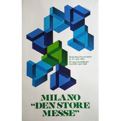 1981 Modernist Poster Fair of Milan by Lelo Cremonesi - Original Vintage Poster