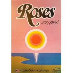 1981 Spanish Pop Art Roses Travel Poster - Original Vintage Poster
