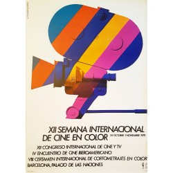 1970 Spanish International Color Cinema Festival - Original Vintage Poster