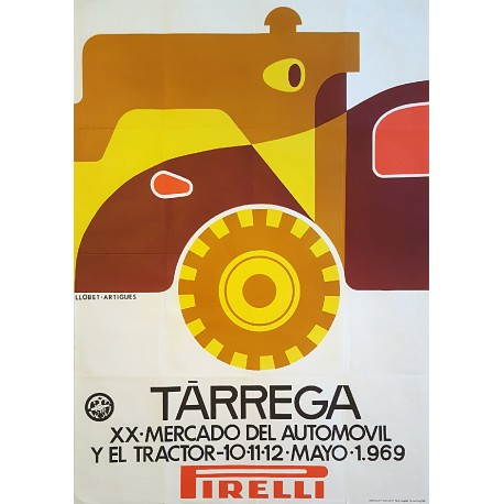 1969 Spanish Car and Tractor Fair - Original Vintage Poster