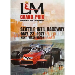 1971 Grand Prix Formula 5000 Seattle - Original Vintage Poster