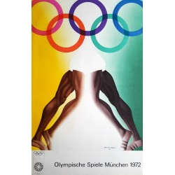 1972 Summer Olympics Munich by Allen Jones - Original Vintage Poster