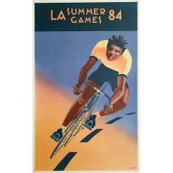 1984 Olympic Games Los Angeles by Laura Smith - Original Vintage Poster