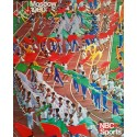 1980 Summer Olympics Moscow Opening Ceremony - Original Vintage Poster