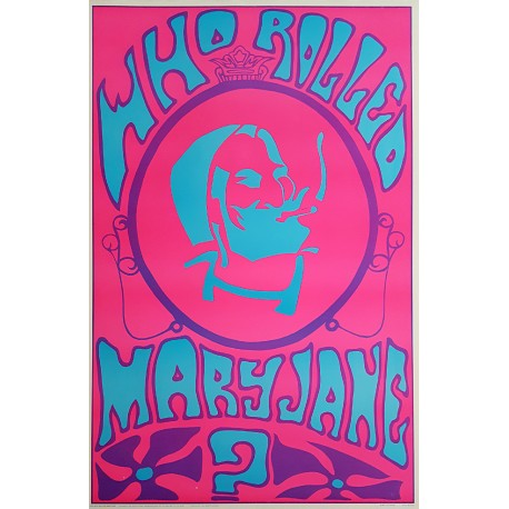 1969 Who Rolled Mary Jane? - Psychedelic Artwork by Bill Olive - Original Vintage Poster