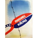 1940s Marshall Aid Campaign Poster - Original Vintage Poster