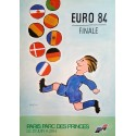 1984 UEFA European Football/Soccer Championship - Paris Final - Original Vintage Poster
