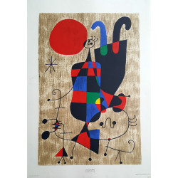 1969 Miro Abstract Artprint - Original Vintage Poster