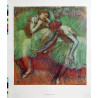1965 Degas Art Print Dancers in Green and Yellow - Original Vintage Poster