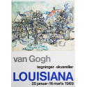 1969 Van Gogh on Louisiana Museum of Modern Art - Original Vintage Poster